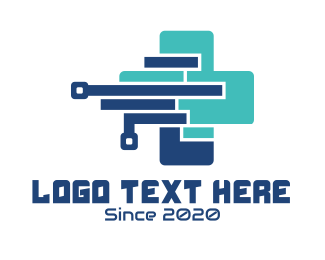 Medical - Medical Technology Cross logo design