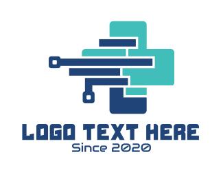 Pharmacist - Medical Technology Cross logo design