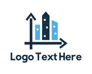Wall St - City Development logo design
