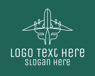 Ticket Pass - Simple Flying Airplane logo design