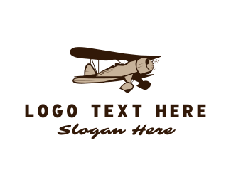 Vintage Plane Logo