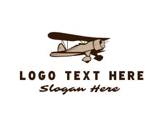 Vintage - Vintage Plane logo design