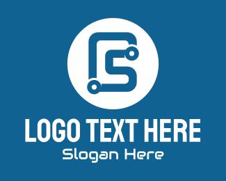 Automation - Blue Tech Letter C logo design