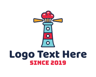 Convenience Store - Lighthouse Cupcakes logo design