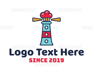Cupcake - Lighthouse Cupcakes logo design