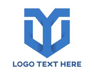 Company Identity - Blue Y Shield  logo design