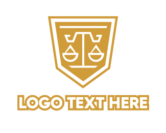 Court House - Geometric Legal Shield logo design