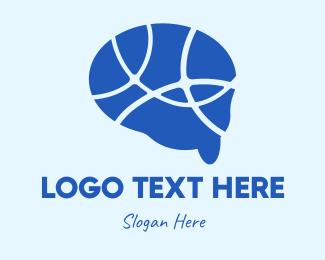 Psychotherapy - Brain Psychology Map logo design