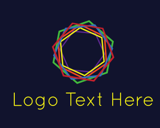 Neon Lights - Multicolor Kaleidoscope logo design