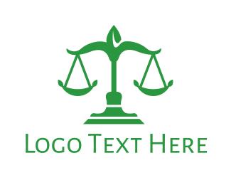 Justice - Green Leaf Justice logo design