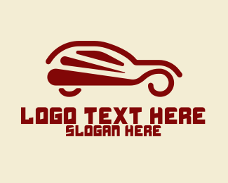 Car Club - Abstract Hatchback Car logo design