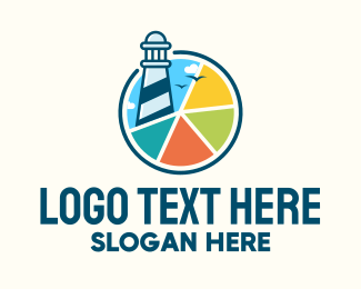 Guide - Colorful Lighthouse Chart logo design