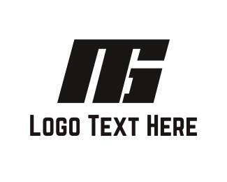 Black Solid Letters Logo