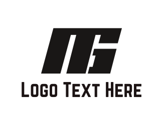 Racing - Black Solid Letters logo design