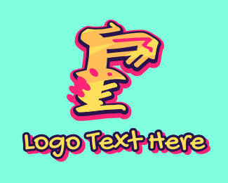 Graffiti - Graffiti Art Letter F logo design