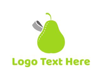 Seamstress - Pear Label logo design