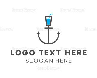Drinking Water - Sailor Bar logo design