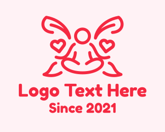 Matchmaking - Meditating Heart Guru logo design