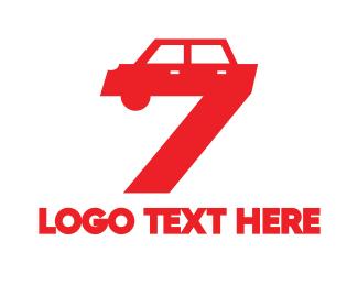 Sedan - Automotive Number 7 logo design