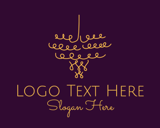 Event Coordinator - Gold Chandelier Light logo design