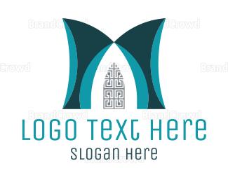 Gate - Art Deco Door logo design