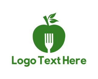 Green And White - Green Apple logo design