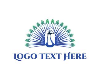 Majestic - Elegant Peacock logo design