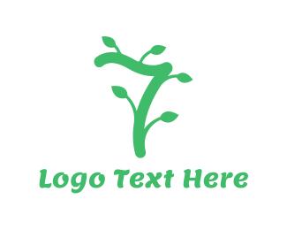Twig - Vine Number 7 logo design