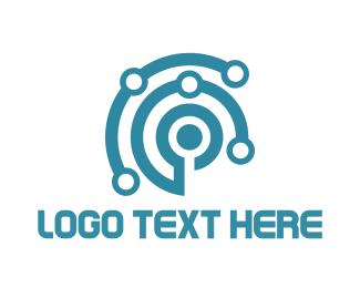 Wearable - Tech Circuits logo design