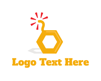 Explosive - Honey Bomb logo design