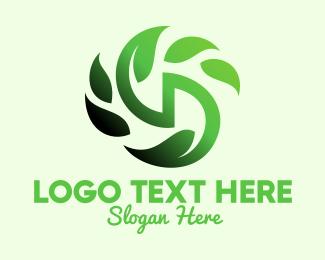 Leafy - Green Cursive Letter D logo design