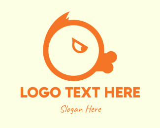 Icon - Orange Angry Duck logo design