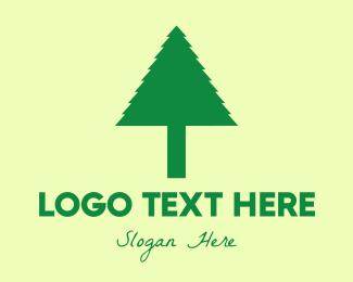 Xmas - Simple Tree logo design