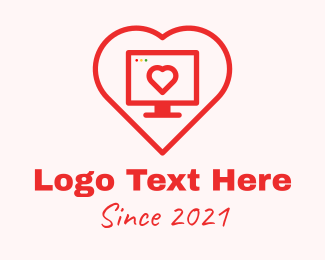 Social Media - Online Dating App logo design