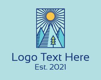 Rectangle - Sunny Mountain Frame logo design