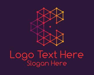 Minimalist - Red Plexus Letter C  logo design