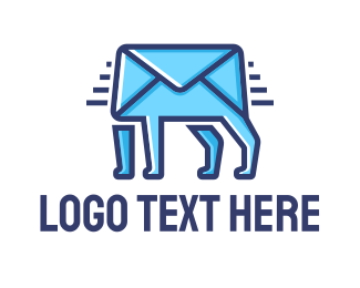 Communication - Walking Mail logo design