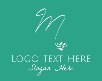 Yogi - White Floral Letter M logo design