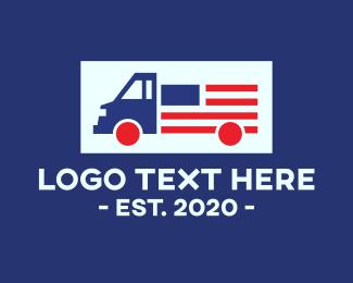 Truck - American Truck logo design