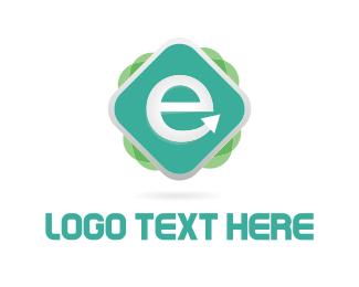 Letter E - E Media logo design