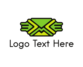 Postcard - Green Mail logo design