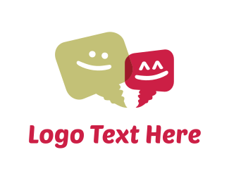 Message - Happy Chat logo design