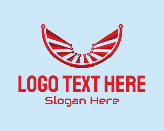 Technology - Modern Red Technology  logo design