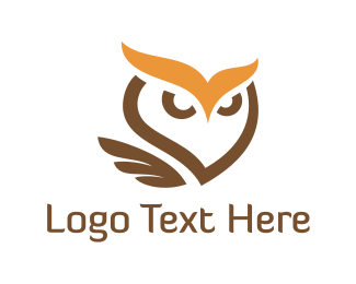 Blue And Brown - Brown Owl logo design