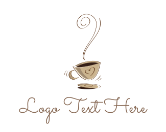 Hot - Hot Coffee Cafe logo design