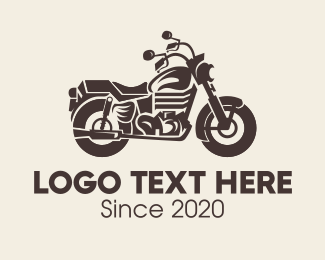 Riding - Brown Motorbike logo design