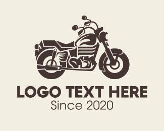 Brown - Brown Motorbike logo design