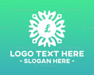 Cultural - Tribal Flower Lettermark logo design