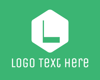 Boutique - Green Hexagon Letter logo design