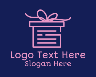 Sheet - Pink Gift Box Document logo design